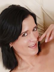 Italian Brunette Salma Clips Pussy Lips