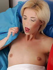 Mia inserting banana inside her vagina