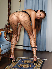Anita Pearl in Fishnets Stuffs Panties – 6/24/2011