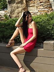 Tamara Jade Toying Outside, Stuffs Panties - 10/6/2010