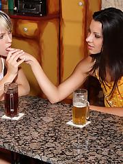 Klaudia & Blue Angel Hook Up at a Bar - 2/3/2009