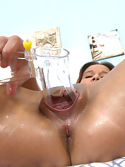 Squeezing a Speculum with her Vagina